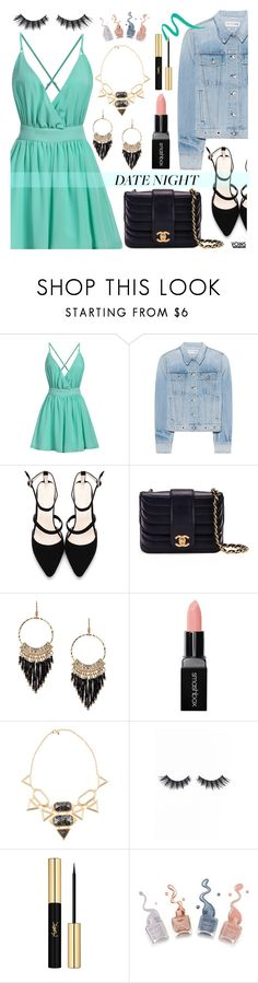 """""""Smokin' Hot: Summer Date Night"""" by dora04 ❤ liked on Polyvore featuring rag & bone, Chanel, Smashbox, Isharya, Violet Voss, Yves Saint Laurent, Lancôme, yoins, yoinscollection and loveyoins"""