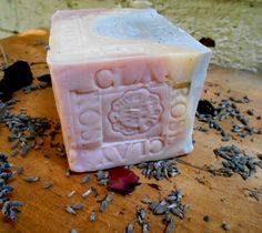 Limited Edition Soap Only 1 in Stock Large bar , This is a wonderful aged soap that can be used not only in the shower or bath, But makes a wonderful decorative soap, custom hand stamped.  Provence - Lavender - Dead Sea Mud Limited Edition  Cleanse and remove any dirt particles, impurities and toxins from your skin.  Dead Sea mud one of the healthiest things you can use for your skin, it improves blood circulation and natural skin generation. Fine mud grains, cleanse the skin and remove any