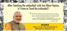 """Speaking at the launch of Pradhan Mantri Micro Units Development Refinance Agency (MUDRA) Yojana, Narendra Modi said the aim is to provide financial assistance to the """"unfunded"""" small entrepreneurs who provide employment to a large number of people.  The scheme, which has a corpus of Rs 20,000 crore, can lend between Rs 50,000 and Rs 10 lakh to small entrepreneurs."""