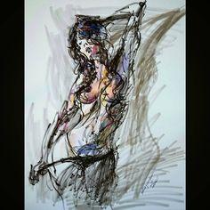Photography credit @girlsonglass     #willkim #keith #girlsonglass #figuredrawing #lifedrawing #nudedrawing #nude #model #girl #art #illustration #drawing #croquis #instaart #watercolor #brushmarker #인체드로잉 #누드 #미술 #일러스트레이션