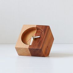 The Timekeeper Modern Table Clock Desk Clock Wooden by Kcimory