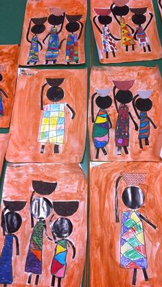 Come with me to Africa African Art Projects, African Art For Kids, Africa Craft, Crafts For Kids, Arts And Crafts, Art Crafts, Afrique Art, African Theme, Safari Theme