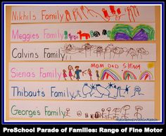 Create a graph to illustrate your preschoolers' families as you study about the McAfee missionary family.