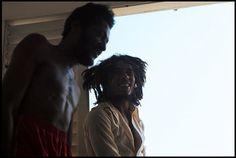 Bob Marley and Seeco in Hope Road ,Jamaica