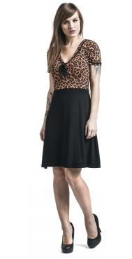 "Pussy Deluxe Medium-length dress, Women ""Sailor Leo"" black • EMP"