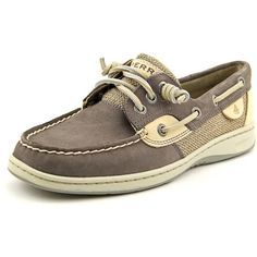 Sperry Top Sider Ivyfish Women Boat Shoes ($55) ❤ liked on Polyvore featuring shoes, grey, nautical shoes, leather boat shoes, sperry top-sider, gray boat shoes and traction shoes