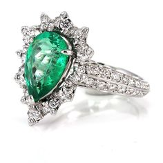Emerald Diamond Ring from Kat Florence