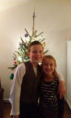 """""""Mijn allesjes"""". Mijn zoon Max en dochter Jane op 25 december 2015. Mijn eigen foto."""