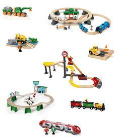 Train Brio avec absolument la locomotive qui fait du bruit (testé par Olivia chez un copain!)