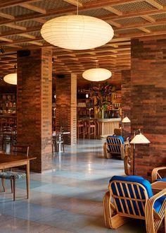 Indonesian architect Andra Matin chose multi-hued bricks, handmade tiles and bespoke terrazzo for this hotel in Bali