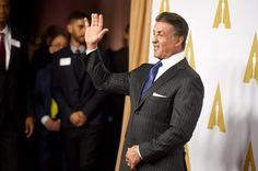 Pin for Later: Lady Gaga, Leonardo DiCaprio & Co. geben einen Vorgeschmack auf die Oscars Sylvester Stallone