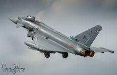 """ A Spanish Storm "" - Spanish airforce Ef-2000 , Florennes AFB, Belgium."