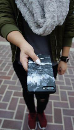 Marble Case in Black for iPhone 7 & iPhone 7 Plus from Elemental Cases
