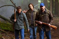 Dean, Sam, Bobby Singer all carrying Shotguns  ⏳% perfection