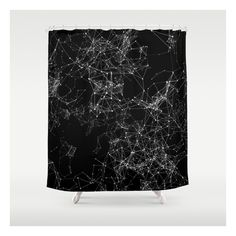 Artificial Constellation 200.03.4252 Shower Curtain ($68) ❤ liked on Polyvore featuring home, bed & bath, bath, shower curtains and wildlife shower curtains
