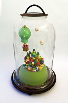 décor réalisé en pâte polymère   plus d'info sur mon site www.celinemosaik.com