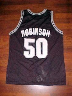 David Robinson 50 San Antonio Spurs Champion NBA Men Black Vintage Jersey 44 #Champion #SanAntonioSpurs