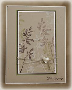 handmade card ... monochromatice brown neutrals ...  luv the stamig with Watercolor Trio ... Stampin' Up!