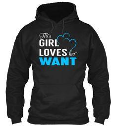 Love WANT - Name Shirts #Want