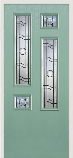 Our 'Diran' style #composite #door shown here with the 'Opal' glass design.