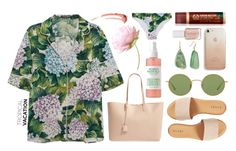 """""""Tropical VACATION."""" by linjimenez ❤ liked on Polyvore featuring Dolce&Gabbana, Yves Saint Laurent, Hinge, Oliver Peoples, Rebecca Minkoff, Kim Rogers and Essie"""