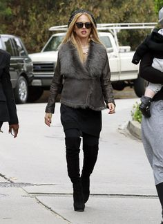 Designer Rachel Zoe arrived at a private residence in Los Angeles, California on March 16, 2012 with her son Skyler Berman and his nanny to visit friends.