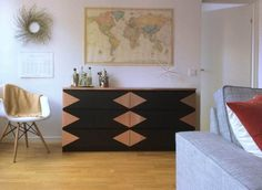 repeindre personnaliser meuble ikea commode malm