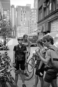 Bread Spreads, Temperance St, Toronto, 1994 from the series Bike Messengers Cycling Tips, Cycling Art, Mtb, Bike Messenger, Bike Pic, Alley Cat, Street Bikes, Vintage Bikes, Road Bike