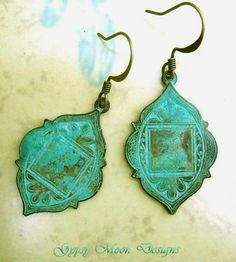 Ethnic Patina earrings / Bohemian Jewelry by Gypsymoondesigns, $18.00