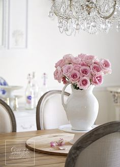 Pink roses at home