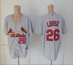 Cardinals #26 Kyle Lohse Grey Cool Base Embroidered MLB Jersey! Only $18.50USD
