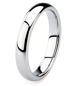 King Will 4mm Classic Polished Comfort Fit Domed Tungsten Metal Ring Wedding Band -- Want to know more, click on the image. (This is an affiliate link) #MenWeddingRings