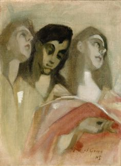 Angel Fragment (After El Greco) Helene Schjerfbeck (Finnish, Tempera and oil on canvas. As details gradually disappeared from Schjerfbeck's paintings, they gained increasing. Helene Schjerfbeck, Helsinki, National Art Museum, Female Painters, National Gallery, Art Archive, Art Auction, Figurative Art, Female Art