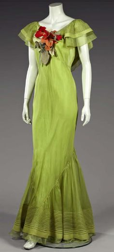 Ballgown early 1930s - fabulous color!