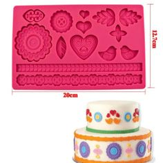 Fondant Cake Embossing Die Embossed Rolling Pin Sugarcrafts Decorating Mold Tool | eBay - 8,63