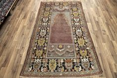Turkish Vintage Rug, Anatolian Vintage, Middle Size Rug, Brown & Earth Tones Maden Rug with Mihrab, Geometric Design, Distressed Rug by NotonlyRugs on Etsy