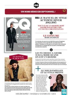 Bow tie and preppy style in Fall'12 issue of GQ France