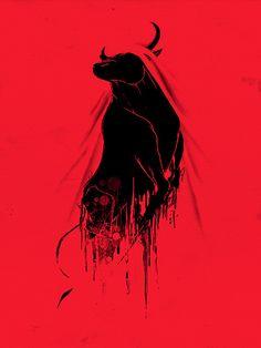 Revenge Of The Toro Canvas Print by Anwar Rafiee Bull Tattoos, Taurus Tattoos, Sun In Taurus, Taurus Art, Bull Painting, Canvas Prints, Art Prints, Art Graphique, Revenge