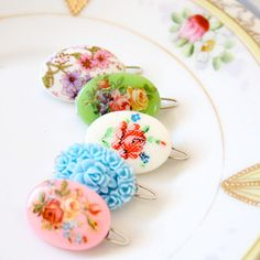 Sweet Cameo Barrettes  Choose Any Two by NestPrettyThingsShop, $14.00