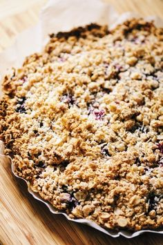A luscious triple berry filling atop a crisp crust & topped with a delightful coconut crumble makes for one easy, healthy and delicious gluten-free and vegan dessert! Berry Crumble Pie | Triple Berry Crumble Pie | Vegan Crumble Pie | Gluten Free Crumble Pie #crumblepie #berrycrumblepie #veganpie #glutenfreecrumblepie Vegan Crumble, Berry Crumble, Pie Crumble, Vegan Pie, Gluten Free Baking, Vegan Baking, Gluten Free Desserts, Healthy Desserts, Vegan Gluten Free