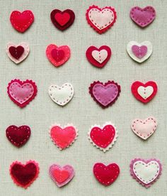 felt heart inspiration for barrettes