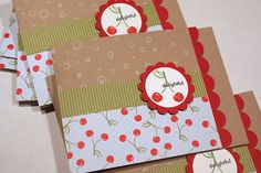 adorable gift card holders from #10 envelopes @Heather Nichols #Papertrey Ink