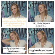 Look at her face when she says those things! She really means it.