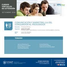 Comunicación y Marketing 2.0: Del consumidor al prosumidor. Inicio 5 de setiembre.