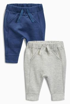 Buy Grey/Navy Joggers Two Pack online today at Next: United States of America Baby Boy Fashion, Fashion Kids, Baby Boy Outfits, Kids Outfits, Diy Vetement, Usa Baby, Baby Pants, Winter Kids, Baby Kids Clothes