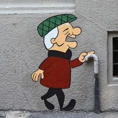 """Mr. Magoo"" by Pao - photo from paopao.it;  in Milano - Isola, Italy"
