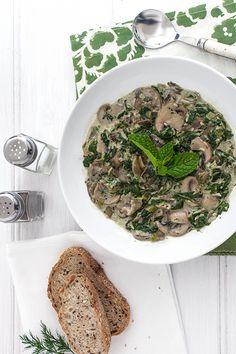 Vegetarian Greek Easter Soup (Magiritsa), with Spinach, Artichoke and Mushroom [Greek Vegetarian]