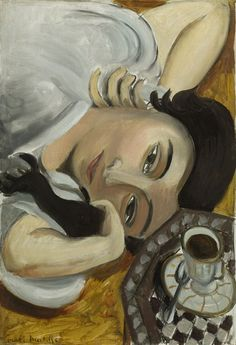 Lorette with Cup of Coffee (1916–1917) by Henri Matisse (1869-1954), French (poboh)