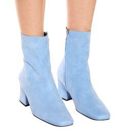 Sybil Suede Ankle Boots - Dorateymur   mytheresa Fashion Heels, Fashion Fashion, Blue Boots, Dress With Boots, City Chic, Suede Ankle Boots, Cute Casual Outfits, Blue Suede, Shoe Shoe