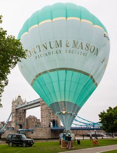 The Fortnum & Mason balloon gets heated up to prepare for a special guest.